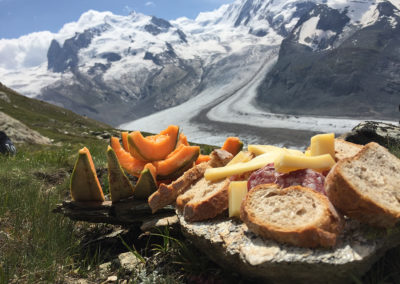Lunch à Zermatt - Inspired Mountain Bike Adventure