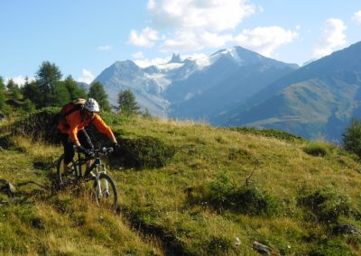 GAb treeline aiguille rouge Inspired - Inspired Mountain Bike Adventure